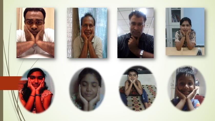 Family pose pics